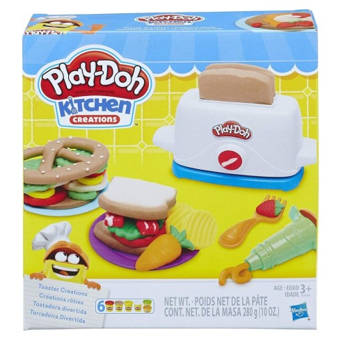 PLAY DOH TOASTER CREATIONS