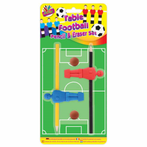 TABLE FOOTBALL PENCIL & ERASER