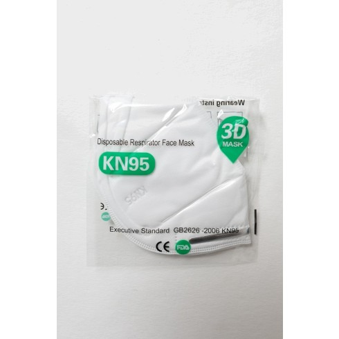 KN 95 Respirator Disposable Face Mask 3D
