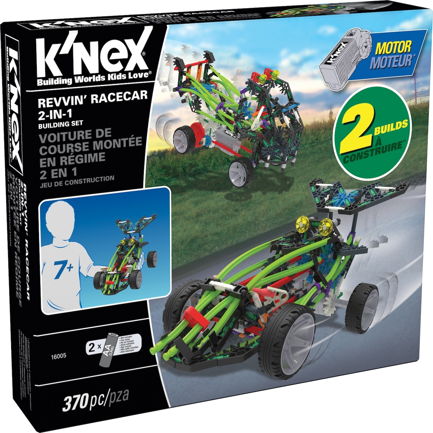KNEX REVVIN RACER 2 IN 1 BUILDING SET