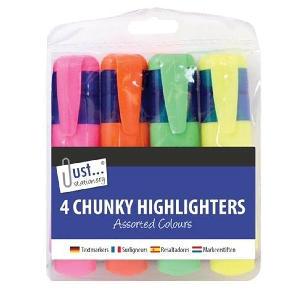 4 CHUNKY HIGHLIGHTERS
