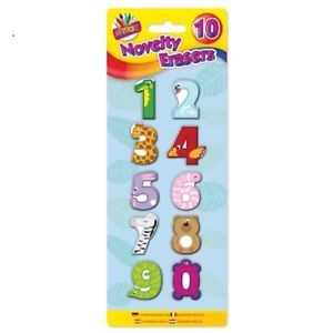 NOVELTY ERASERS NUMBERS