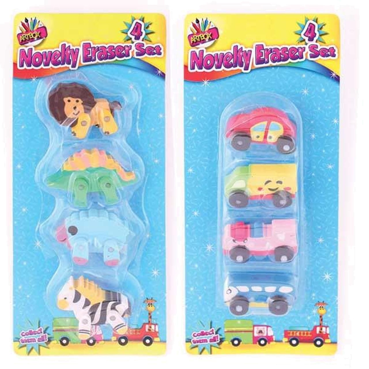 NOVELTY ERASER SET