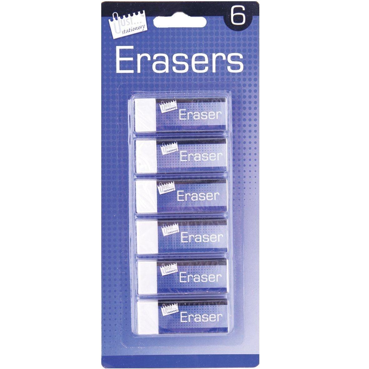 6 ERASERS