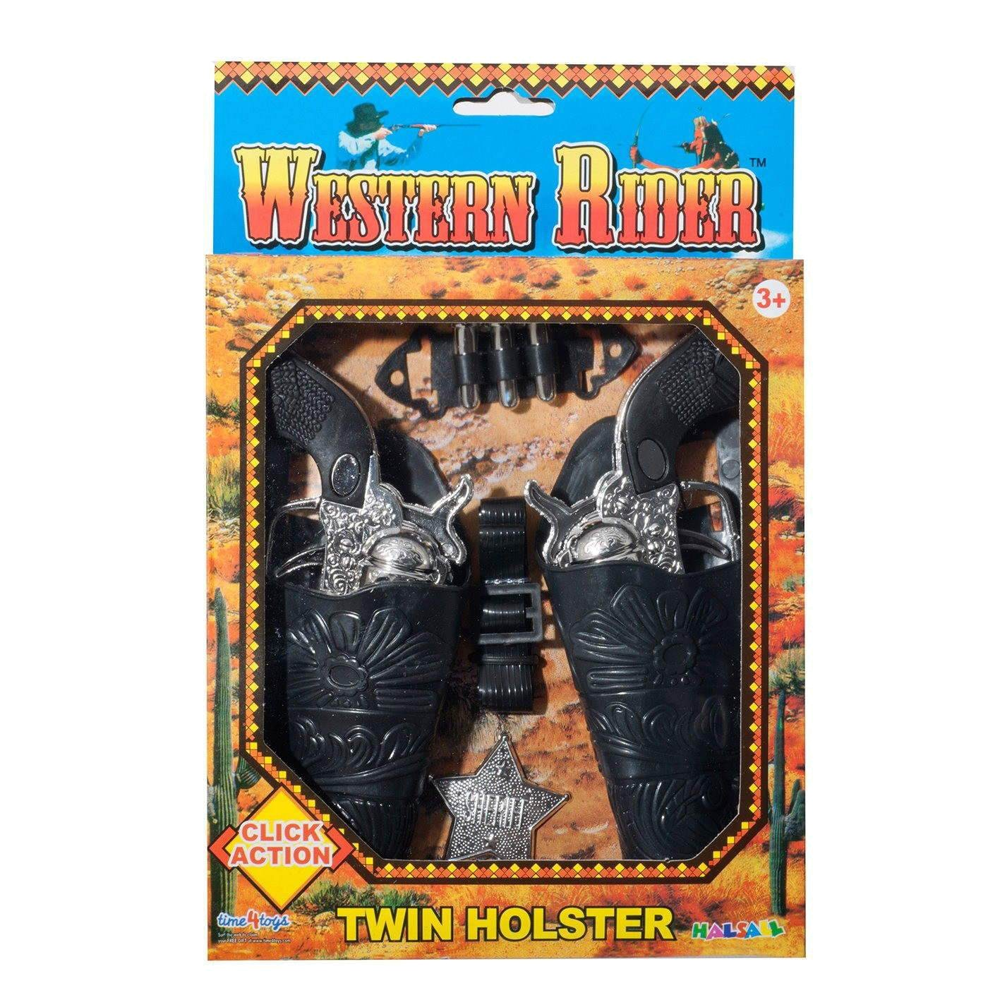 WESTERN RIDER TWIN HOLSTER SET