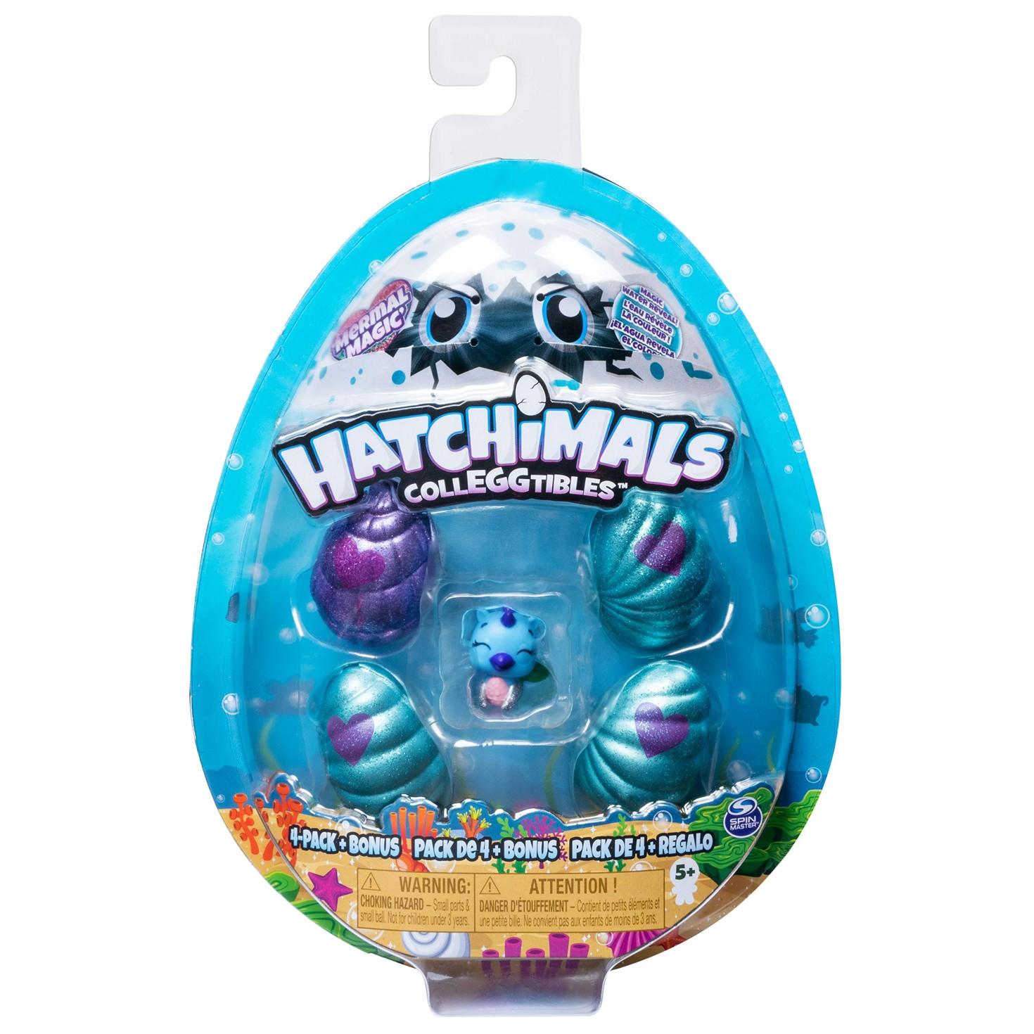 HATCHIMALS 4 PACK + BONUS MERMAL MAGIC